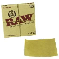 Papel Horno Raw 8 x 8cm 100uds