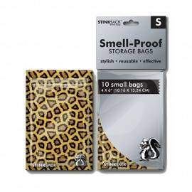 Bolsas Stink Sack S leopardo 10uds (10,16 x 15,24cm)